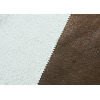 Buy cheap Eco - Friendly Fake Fur Laminated Polyester Fabric For Sofa / Coat from wholesalers