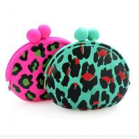 Buy cheap leopard print silicone purse/ silicone coin purse/ silicone pouch for women from wholesalers