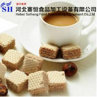 Buy cheap Stainless Steel Automatic Square Wafer Biscuit Production Line Price from wholesalers