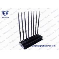 Buy cheap 8 Bands Adjustable Powerful Multi-functional 3G 4G Phone Blocker Remote Controls Jammer (315/433/868MHz) product