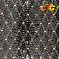 Buy cheap Embroidery Quilted Stitching PU PVC Synthetic Leather Fabric For Car Seat from wholesalers