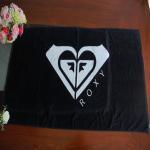 Buy cheap Dark Black Customized Jacquard Reactive Printing Cotton Towel from wholesalers