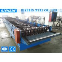 Buy cheap Galvanized Steel Deck Roofing Sheet Roll Forming Machine with Chain Transmission product