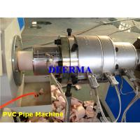 Buy cheap Twin Screw PVC Pipe Extruder Machine / Production Line For Electrical Conduit from wholesalers