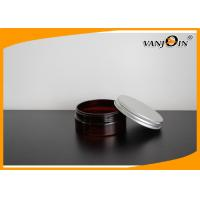 Buy cheap 150ML Brown Plastic Cream Jar Screw Caps Suitable For Hair Wax 39*91mm from wholesalers