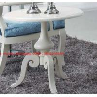 Buy cheap Leisure fabric with white painting solid wood chair in Neoclassical design and cocktail end table from wholesalers