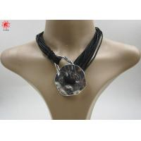 Buy cheap Handmade Womens Black Rope Charm Necklaces Fashion Jewellery product