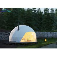 Buy cheap White PVC Cover Military Dome Tent For Camping , Aluminum Frame from wholesalers