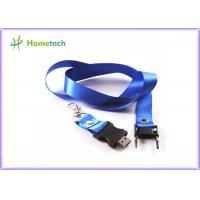 Buy cheap Blue 4GB/ 8GB Lanyard Plastic USB Flash Driver 2.0 , Black USB Key 2.0 product