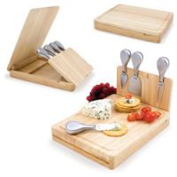 Buy cheap 4pcs cheese tools with cutting board, wood case, wood cheese board sets from wholesalers