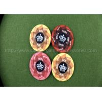 Ceramic Flower Rotate Gambling Poker Chips 40mm Monte Carlo Poker Chips Plaques