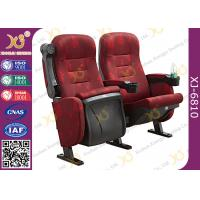 Buy cheap Mesh Fabric Upholstered Theater Chairs With Leatherette Headrest Row Number from wholesalers