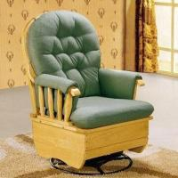 Buy cheap Swivel Glider Rocking Chair, Made of Import Rubber Wood, Measuring 76 x 66 x 99cm from wholesalers