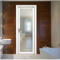 Buy cheap 80x35 flat surface aluminium frame door double glazed doors casement door toilet door design aluminum casement door from wholesalers