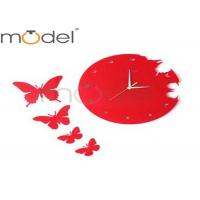 Buy cheap Red Lovely Unusual Acrylic Wall Clock Craft , Kids Room Decor Wall Clocks from wholesalers