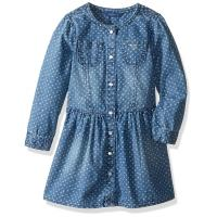Buy cheap Stars Printed Blue Kids Denim Dress , Round Neck Girls Long Sleeve Shirt Dress from wholesalers