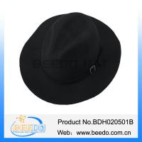 Buy cheap 100% wool black floppy brim bailey briar hat for men from wholesalers