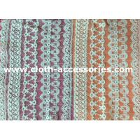 Buy cheap Customized 100 Cotton Mesh Net Lace Fabric Eco - Friendly Dyeing For Lady Dress from wholesalers