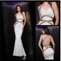 Buy cheap Sexy Halter Deep V-neck Backless Bandage Floor Length Cocktail Dresses Mermaid from wholesalers