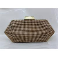 Buy cheap Glamorous Beaded Silver Mesh Evening Bag , Unique Shape Metal Mesh Purse from wholesalers