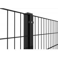 Buy cheap Pvc coated twin wire Double rod welded wire 868 fence panel Mesh size 50X200MM With 50MM Square Post from wholesalers