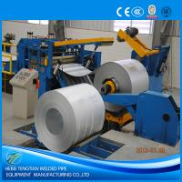 Buy cheap Galvanised Steel Sheet Slitter Cutter Machine With Circular Knife Blade PLC Control from wholesalers