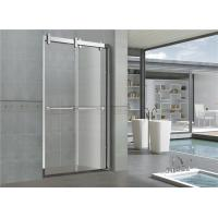 Buy cheap 8mm/10mm Frosted Double Move Sliding Glass Shower Doors With CUPC certification Big Hanging Wheels from wholesalers