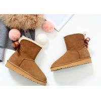 Buy cheap Comfortable / Warm Ankle Length Boots Anti Slip Ladies Sheepskin Boots With Wool Lining from wholesalers