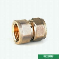 Buy cheap Female Threaded Coupling Pex Fittings Brass Color ISO Standard from wholesalers