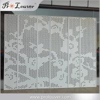 Quality Flower image perforated aluminum panel,Custom manufactured perforatedl panel for sale