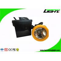 Buy cheap Wired LED Mining Light , Mining Cap Lights With  Black / Orange PC Shell from wholesalers