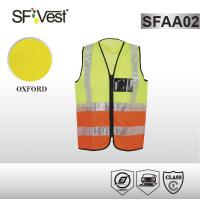Buy cheap Hi vis fluorecent color reflective safety vest with crystal reflective tape EN ISO 20471 from wholesalers