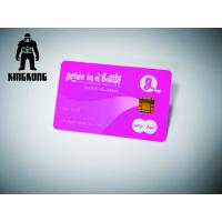 Buy cheap Neon Printing Plastic Card With Chip Magnetic Stripe Hot Stamp Emboss Number from wholesalers