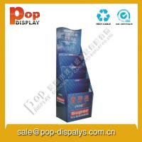 Buy cheap Foldable Custom Cardboard Floor Display Stands With Full Color from wholesalers