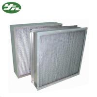 Buy cheap High Temp HEPA Air Filter Size Customized Aluminium Foil Separate  For Clean Oven from wholesalers