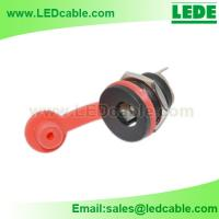 Buy cheap Panel Mount 2.1mm DC barrel jack with Dust Cover from wholesalers