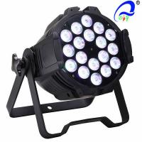 Buy cheap Medium Live Concerts 5in1 RGBWA LED Par Light 18pcs * 15W Par 64 LED Lamp 300W from wholesalers