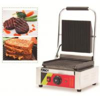 Buy cheap Electric Panini Griddle Counter Top Single Plate CE Approval Panini Griddle FMX-WE173B from wholesalers