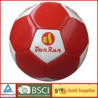 Buy cheap Durable small indoor PVC red and white soccer ball size 5 official soccer football from wholesalers