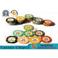 Buy cheap 11.8g Colorful Casino Poker Chips And Cards / Custom Plaque Stickers product