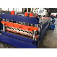 Buy cheap PPGI Steel Metal Roof Panel Roll Forming Machine 16 Rollers , 0.3-0.8mm Thickness from wholesalers