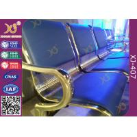 Buy cheap Powder Coated Steel Tube Beam Waiting Area Chairs , Waiting Area Seating With Armrest from wholesalers