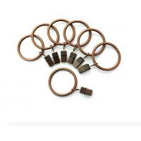 Buy cheap Portable Set of 14 1.5inch Copper Curtain Rings with Clips & Hooks for Bathroom Shower Rod from wholesalers