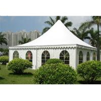 Buy cheap Large Outdoor Canopy Tent 10x10m , Luxury Camping Tent White PVC Cloth from wholesalers