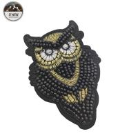 Buy cheap Sew On Beaded Applique Patches / 3D Embroidery Patches Customized Size from wholesalers