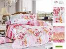 Buy cheap Red Flower Printed Decorative King Size 100 Cotton Hotel / Family Bed Sheet Sets from wholesalers