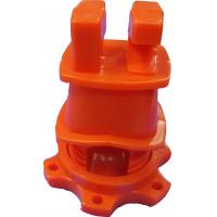 Buy cheap Orange HDPE Screw Tight Round Post Insulator with UV inhibitors for Electric Fencing System product