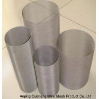 Buy cheap Durable Sliver Stainless Steel Mesh Screen Filter / Cylinders For Extrusion from wholesalers