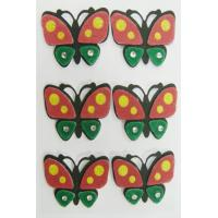 Fancy Fuzzy 3d Butterfly Stickers , Make Your Own Custom Sticker Sheets