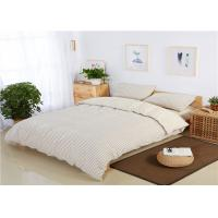 Buy cheap Classic White Cotton Bedding Sets Small Square Plaid For Hotels / Home from wholesalers